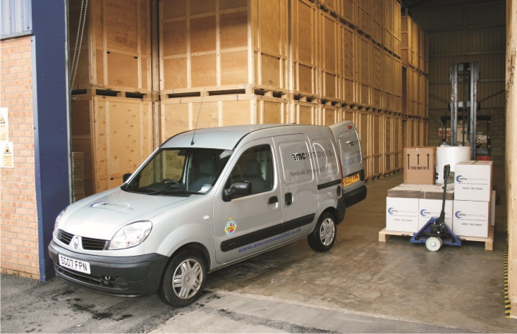 Packaging delivery van